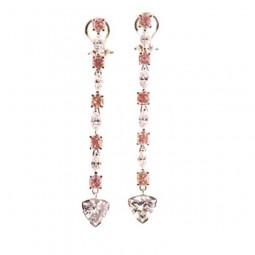 Trill Shaped Diamonds Set In Platinum Earrings