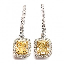 Magnificent Yellow Diamond Earrings
