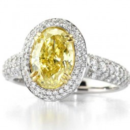 Setting with (128) F-G VS Diamonds, 0.83ctw. Made in platinum.
