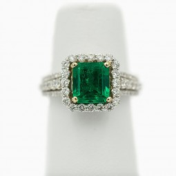A 1.92ct Emerald Ring