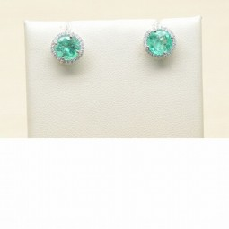 A 2=2.79ct Emeralds set inRD 7.50MM1.50CT 0.22ctw=(48) G-HSI2