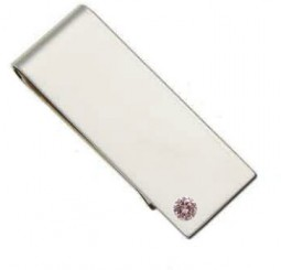 Money Clip  with Pink Diamond