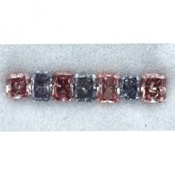 0.72ctw Set of Blue and Pink Diamonds