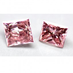 0.39ct Matched Pair of Argyle Pink Diamonds