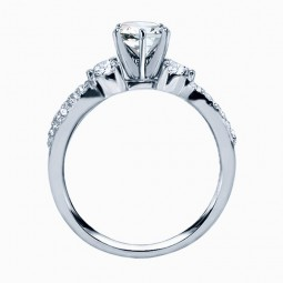Rm1443-14k White Gold Infinity Engagement Ring