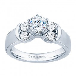 Rm464-14k White Gold Engagement Ring From Nostalgic Collection