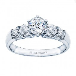 Rm504-14k White Gold Classic Engagement Ring